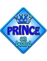 TROPHY PRINCE Non personalised novelty baby on board car window sign.