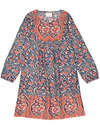Masala Baby Little Girl's Miri Dress Blue Jasmine