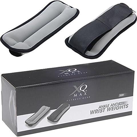 XQ Max Ankle/Wrist - Lastres de tobillos, color negro / gris, talla 2 x 0.5 kg