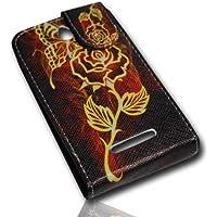 Funda Flip Style–Design No. 2–Cover Case Funda para Sony Xperia E (C1605)