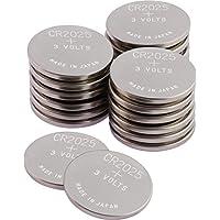 GP Batterien CR2025 CR 2025 (CR2025e) 3v Knopfbatterien/Lithium Knopfzellen 3 Volt für verschiedenste Geräte- und Verbraucheranwendungen, (20-er Pack Markenware, Batterien einzeln entnehmbar)