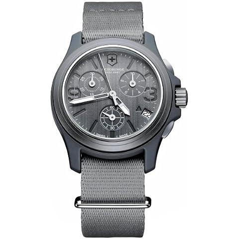 Victorinox Swiss Army Active Original 241532 - Reloj cronógrafo de cuarzo para hombre, correa de tela color gris (cronómetro, agujas