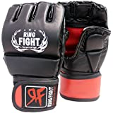 Ring Fight MMA UFC Grappling Gloves Thumb Protection Black/Red