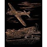 Royal & Langnickel COPF25 - Engraving Art/Kratzbilder in Kupfer Din A4 - Flugzeuge des Zweiten Weltkriegs