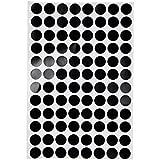 Magideal 96PCS/SHEET Round Black Spot Stickers Table Spots Billiard Table Accessory 1.2cm