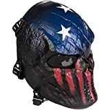 Ecloud Shop® Esqueleto cráneo facial completa máscara protectora para CS Juego Capitán