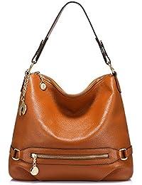 35580ac451 Real Leather Handbags for Women Large Handbag Hobo Bag Ladies Handbag  Shoulder Handbag with Multiple Pockets