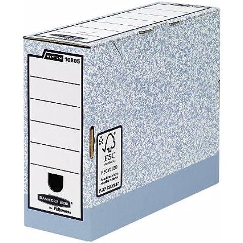 Fellowes Bankers Box - Caja para guardar documentos en posición vertical (10 unidades), color gris
