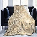 NR Fleece Deken Goud Mandala Thuis Flannel Fleece Zacht Warm Pluche Deken voor Bed/Bank/Bank/Kantoor/Kamperen