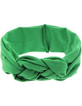 Zhhlaixing Cute Baby Girl Turban Hairband Bows Cross Knot Headband KT003