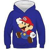 hhalibaba Juego clásico de Dibujos Animados Super Mario Bros Ropa Sudadera con Capucha para niños Bebés Hiphop Streetwear Cha