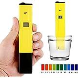Zogin PH Medidor Digital Portátil con electrodo, ATC (0 ~ 50°C), Rango de medición pH 0 ~ 14 para Piscinas, Acuarios, Alimentos, Bebidas, Industria de la Pesca, Laboratorios Escolares, etc