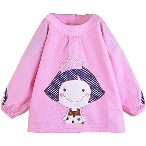 Per bambini impermeabile Bavaglino Alimentazione Arte Pittura Grembiule Overclothes Vesture a maniche lunghe Grembiule dustcoat taglia 80–100, disponibile in 6colori
