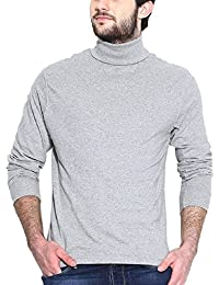Dream Of Glory Inc. Men's Branded Full Sleeve Cotton High Neck T-Shirts Men Also In Plus Sizes : XS - 9XL