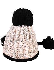 Fablcrew Sombrero de Punto de Invierno para Mujer Proteger las Orejas Kaki