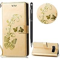 WIWJ Schutzhülle für Samsung Galaxy Note 8 Handyhülle Leather Case für Galaxy Note 8 Hülle Lederhülle Flip Wallet... preisvergleich bei billige-tabletten.eu