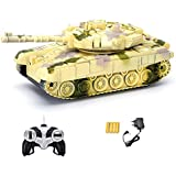 Webby Remote Controlled Tank with Music and Lights, Colour May Vary