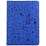 IPad Mini Case, KolorFish ILove Designer Series Funky Love Cute Design Printed Leather Flip Case Cover For Apple IPad Mini, Mini 2, Mini 3 (Blue)