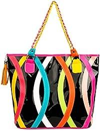 VanGoddy Harmony série mode bande de l'arc-en-ciel Tote Bag Shopper Sac épaule Top Handle