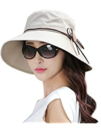 Siggi Ladies Summer Bucket Cord Sun Hat Packable Wide Brim UPF50+ for Women