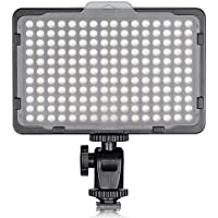 Neewer 176 LED 5600K Ultra Bright Dimmable on Camera Video Light with 1/4-inch Thread Mount for Canon,Nikon,Pentax,Panasonic,Sony and Other DSLR Cameras (Power Adapter or Batteies NOT Included)
