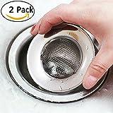 2PCS Filtre Passoire drain de bain Capteur de cheveux de douche en métal by Ungfu Mall