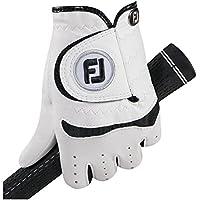 FootJoy 65939E - Guantes de golf para diestro, Unisex niños, Blanco/Negro, S