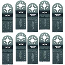 10x 35mm topstools un35j _ 10cuchillas para madera para Bosch, Fein Multimaster, colores, Makita, Milwaukee, Einhell, ergotools, Hitachi, Parkside, Ryobi, multiherramienta Worx, WorkZone Multi herramienta accesorios