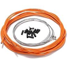 TOOGOO(R) Fahrrad-Komplett vorne und hinten Innen Aussen Draht Getriebe Bremszugset - Orange