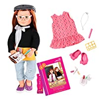 Our Generation BD31114ATZ Deluxe Twin Sabina Doll with Book