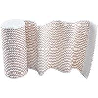 Sharplace Vendaje de Compresión Elástica de Heridas Reutilizables Protección de Deportes de Envoltura de Abrigo para Apoyo de Piezas Dañadas de Cuerpo - 15cm x 4.5m