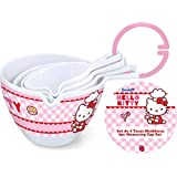 Stor 77923–Set of 4Melamine Measuring, Hello Kitty Design, with Label