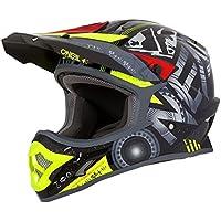 ONeal 3Series Attack Kinder Motocross MX Helm Schwarz Neon Gelb Enduro Trail Quad Cross Offroad 0623-09