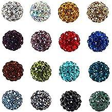 El color mezclado 100pcs pavimenta los granos de la bola del disco, los granos cristalinos