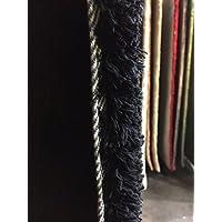 Lord of rugs–Alfombra & coloré de mechas larga suave y agréable tacto, poliéster, negro, 60 x 90