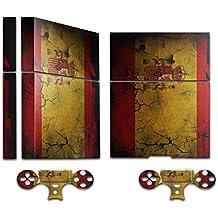 Colección 32, personalizado consola PS4piel Pegatina Adhesivo protector Skin Decal Faceplates Vinyl Drapeaux Espagne 2 PS4 Skin