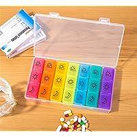 Dbtxwd Pill Box Organizer 7 Tage, Pille Dispenser Weekly 3 Mal Am Tag mit Fall Für Die Reise, Vitamin Fischöl... preisvergleich bei billige-tabletten.eu