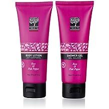 Treets Cuidado del Cuerpo Gift Set Body Lotion plus gel de ducha Rose & Pimienta rosa, paquete 1er