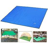 Overmont estera toldo alfombrilla manta impermeable plegable con bolsa para tienda de campaña camping picnic playa senderismo al aire libre azul/naranja/verde/verde oscuro