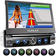 XOMAX Autoradio mit Bildschirm ausfahrbar, 1 DIN