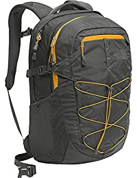 The North Face Borealis Mochila, Gris (Asphalt)/Amarillo, 31.1 x 33 cm, 28 Liter