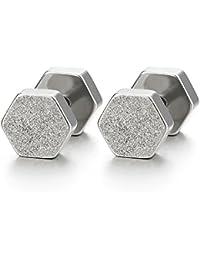 4bf2c4ae4617 Amazon.es  Cool Steel and Beyond - Pendientes   Hombre  Joyería