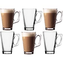 Takestop® - Juego de 6 tazas de 140 ml., taza para cappuccino,