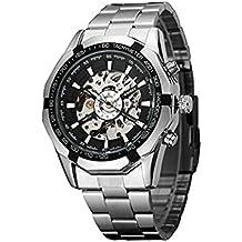 Timelyo - Reloj automático de deporte para hombre, diseño réplica de lujo, ...