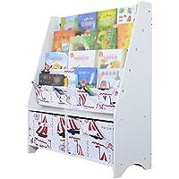 JH Woody Magazine Shelves Precioso Paño De Aterrizaje 4to Piso De Estante con Gabinete De Caja De Almacenamiento ++ (Color : Blanco)