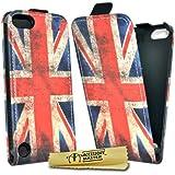 Accessory Master Etui en cuir pour iPod Touch 5 Motif Drapeau du Royaume-Uni Millésime
