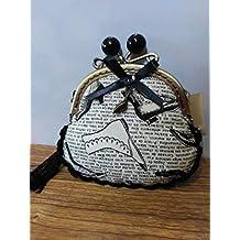 monedero tela zapatos hecho a mano con remate a ganchillo
