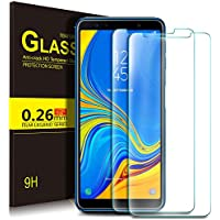KuGi Samsung Galaxy A7 2018 Protection Ecran,Samsung Galaxy A7 2018 Ultra Résistant Film Protection écran Glass [Dureté 9H] Screen Protector pour Samsung Galaxy A7 2018(Pack de 2)