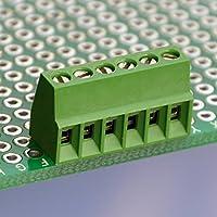 Electronics-Salon 10PCS 6 Polen 2,54 mm/0,3 cm PCB Schraube-Terminal Block.
