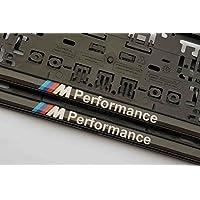 2x m Performance Soportes para matrícula para matrícula con 2mm Alta Resina para EU excepto at